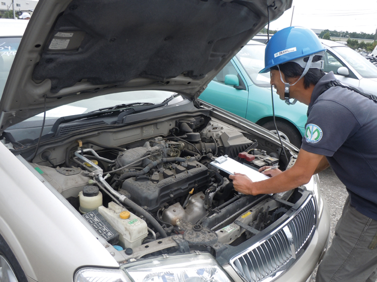 Inspection of vehicles brought in